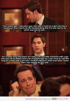 One of the reasons I love The Office. So funny but they knew how to pull on your heart strings in 2 seconds.