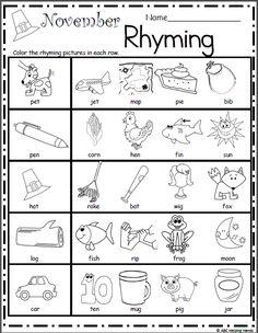 November Rhyming - Made By Teachers
