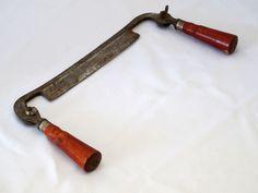 Vintage draw knife / Vintage tools / Cutting tool /  Wood cutting tool. $25.00, via Etsy.