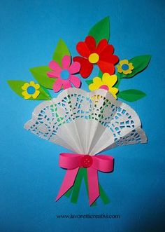- Best DIY and Crafts Ideas Easy Crafts, Diy And Crafts, Crafts For Kids, Arts And Crafts, Paper Crafts, Flowers For Mom, Doilies Crafts, Crafts For Seniors, Mother's Day Diy