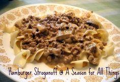 A Season for All Things: Hamburger Stroganoff