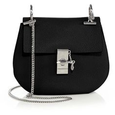 Chloe Drew Small Shoulder Bag ($1,945) ❤ liked on Polyvore featuring bags, handbags, shoulder bags, accessories, purses, bolsas, apparel & accessories, leather purse, shoulder strap handbags and man shoulder bag