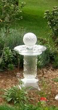 Karen Schechterle uploaded this image to 'Garden Junk Inspiration Albums/Totems'. See the album on Photobucket. Garden Whimsy, Garden Junk, Garden Deco, Garden Totems, Glass Garden Art, Glass Art, Flower Plates, Glass Flowers, Garden Crafts