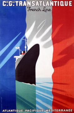 Buy online, view images and see past prices for Vintage Original PAUL COLIN French Line Travel Poster. Invaluable is the world's largest marketplace for art, antiques, and collectibles. Art Deco Posters, Vintage Travel Posters, Cool Posters, Tourism Poster, Poster S, Travel Ads, Travel And Tourism, Classic Image, Berlin