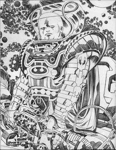 "ungoliantschilde: "" Jack Kirby ~ the Kirby Unleashed Portfolio! (Part 3 of 5) """