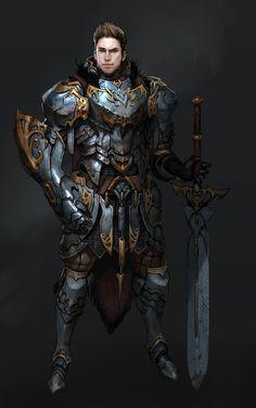 Virus n personal artwork Two Hand sword Knight