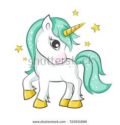Illustration about Cute magical unicorn. Vector design on white background. Print for t-shirt or sticker. Romantic hand drawing illustration for children. Illustration of beauty, little, isplated - 100726157 Unicorn Drawing, Cartoon Unicorn, Unicorn Art, Magical Unicorn, Unicorn Pictures Cartoon, How To Draw Unicorn, Little Unicorn, Little Pony, Colorful Drawings