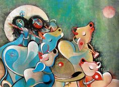 Radhe Krishna by Rajeev Kumar Radha Krishna Wallpaper, Krishna Art, Radhe Krishna, Lord Krishna, Contemporary Art Artists, Art For Sale Online, Indian Art Paintings, Zen Art, Hindu Art