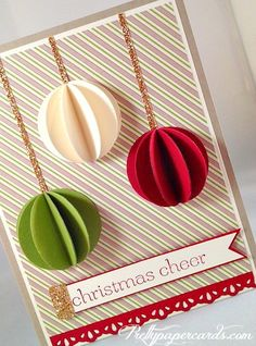 3-D ornament card