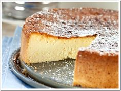 Italian Ricotta Cheesecake. Skip the optional cookie dusting and it is gluten free!!!