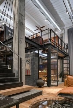 Loft Interior Design, Loft Design, Exterior Design, Industrial Interior Design, Industrial House, Industrial Apartment, Industrial Architecture, Industrial Interiors, Dream Home Design