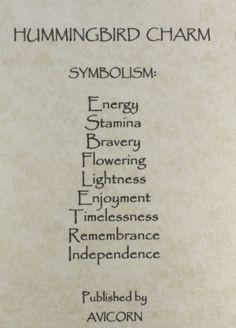 HUMMINGBIRD-CHARM-Totem-Symbol-Amulet-Talisman-Attraction-Magick-Bird-Flower