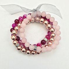 073ab0d9800b Items similar to Stacked Beaded Bracelet Set