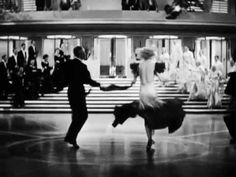 Dance With Me Tonight [a tribute to Fred & Ginger] - YouTube. This is a bunch of scenes from their films, rather than just one, but it shows off so much that is wonderful - can't resist pinning it!