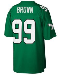 9a028006f2e Mitchell & Ness Men's Jerome Brown Philadelphia Eagles Replica Throwback  Jersey - Green M