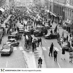 La mañana siguiente en la que Suecia cambió su sentido de manejar al lado derecho, 1967