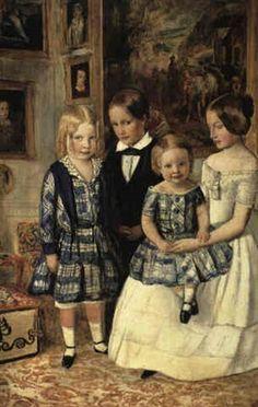 John Everett Millais Portrait of the four Wyatt children  1849