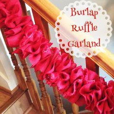Mommy Makes Things : DIY Ruffle Burlap Garland #holidayideaexchange