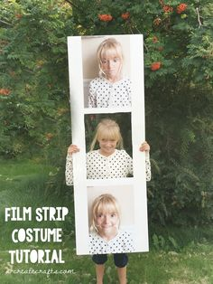Film Strip Costume Tutorial in a few easy steps!: Fun DIY Halloween costume idea!
