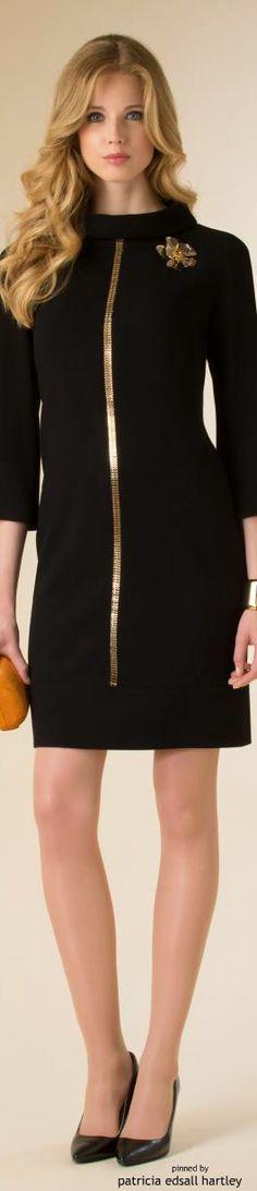 Black & Gold Essence ✦ Luisa Spagnoli - FW 2015 ✦ from my board:  https://www.pinterest.com/sclarkjordan/black-gold-essence/