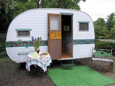vintage trailer for glamping #camping