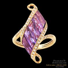 Bellarri Amethyst and diamond ring from Pearlman's Jewelers