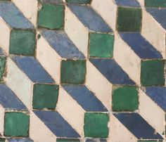 Alicatado tiles with a geometrical composition16th century National Palace of Sintra, Portugal