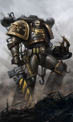 spassundspiele:  Warhammer 40k Iron Warrior – fan art by Troll Juncha