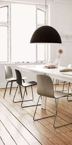shared desk space; grey, black and white