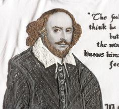 William Shakespeare Tshirt Literary Art Literature T shirt -