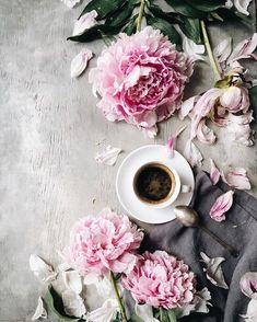 "6,221 Likes, 71 Comments - Eugenia Prinsloo (@evgeniya.prinsloo) on Instagram: ""Coffee with peonies☕️Have a beautiful weekend dear friends! Коллекция чашек кофе растёт и сегодня…"""