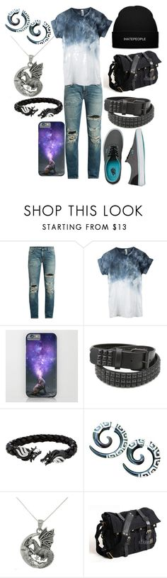 """""""Untitled #660"""" by dino-satan666 ❤ liked on Polyvore featuring Yves Saint Laurent, Vans, Hot Topic, Carolina Glamour Collection, men's fashion and menswear"""