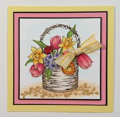 #Spring is definitely in the air with this #cre8time birch #bouquet! #Stampendous #containergarden