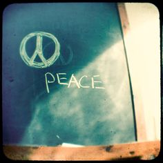 What Home Means to Me: chalkboard peace
