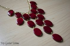 Red Statement Necklace
