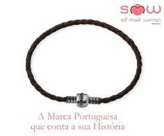 Pulseira Couro SMW Couro Negro | Prata de Lei 925 1SMW903.1