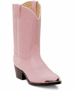 Girl's Dusty Pink 'n Chrome Boots I know some little girls who would love these!