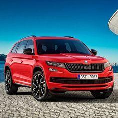 """Skoda Kodiaq Sportline 2018 Versão com apelo esportivo do SUV é uma das novidades da marca da República Tcheca no Salão do Automóvel de Genebra. A Skoda que pertence ao grupo Volkswagen aplicou detalhes negros na grade rodas e para-choques exclusivos. Completam o visual rodas opcionais de 20"""" como na foto.  Será vendido nas mesmas opções de motores das demais versões: dois a gasolina e dois a diesel: 1.4 TSI de 150 cv 44 (velocidade máxima de 197 km/h e 0-100 km/h em 9.8 s); 2.0 TSI de 180…"""