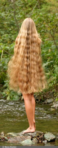 Where the river and her hair flows. And the nature and her hair grows.