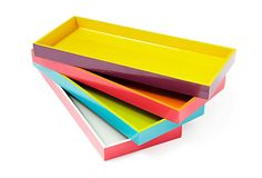 Two-Toned Wood Trays