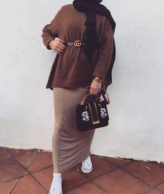 to wear pencil skirts with hijab – Just Trendy Girls: www.justtrendygir… How to wear pencil skirts with hijab – Just Trendy Girls: www.justtrendygir… - How to wear pencil skirts with hijab – Just Trendy Girls: www. Hijab Casual, Hijab Outfit, Hijab Chic, Hijab Wear, Simple Hijab, Casual Chic, Modern Hijab Fashion, Muslim Fashion, Modest Fashion