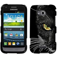 Amazon.com: Samsung Galaxy Victory 4G LTE Black Cat Face Hard Case Phone Cover: Cell Phones & Accessories