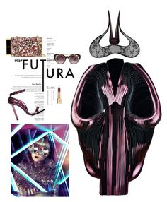 """Futura"" by lenro ❤ liked on Polyvore featuring Behance, Iris van Herpen, Tom Ford, Erdem, Yves Saint Laurent, Philip Treacy, GetTheLook and hats"