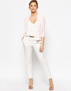 Ted Baker   Ted Baker Woven Front Wrap Cardigan at ASOS