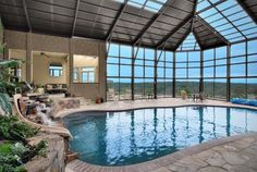 Indoor Pool With Waterfront View!