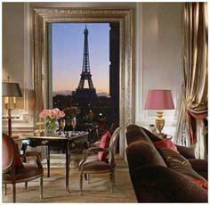 Suite Luxury: Hotel Plaza Athenee Paris Unveils New Eiffel Suites Plaza Athenee Paris, Hotel Plaza, Hotel Lobby, Paris Torre Eiffel, Oh Paris, Paris Flat, Paris Night, Paris 2015, Paris City