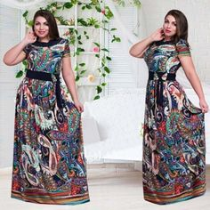 moda plus size tamanho grande vestido longo vestidos primavera verao 2017 moda evangelica vestidos estampado preto rosa azul claro