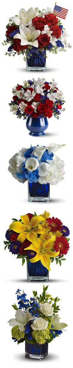 Fourth of July Party Flowers! www.MyFlorist.com Summer Category