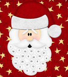 Santa's Beard Advent Calendar | Printables 4 Mom
