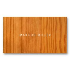 Texture Business Card: Wood by milalala